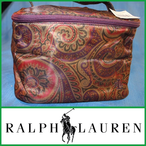 NWT Ralph Lauren Travel   Cosmetics Case Paisley f7bc08446f164